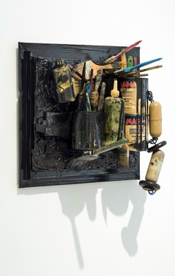 "Gordon Newton ""For Turner"" 1988 Mixed Media 19""h x 20.5"" x 13.25"" Image Courtesy Hill Gallery"