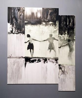 Lorna Simpson, US Three Figures, 2014 screenprint on Clayboard